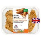 essential Waitrose Cajun spiced breaded chicken breast strips - 250g