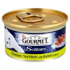 Gourmet Solitaire fillets with rabbit in sauce - 85g Brand Price Match - Checked Tesco.com 02/09/2015