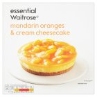 essential Waitrose frozen mandarin & cream cheesecake - 515g