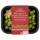 Waitrose Christmas baby sprouts onions with smoke bacon - 250g