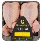 Gressingham 2 whole quails without giblets - 320g