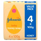 Johnson's honey baby soap - 4x100g Brand Price Match - Checked Tesco.com 24/08/2016