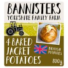 Bannisters' Farm 4 ready baked potatoes - 800g