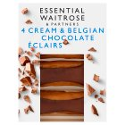 essential Waitrose Belgian Chocolate Éclairs - 4s