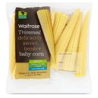 Waitrose ready trimmed babycorn - 100g