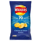 Walkers cheese & onion multipack crisps - 12x25g Brand Price Match - Checked Tesco.com 23/07/2014