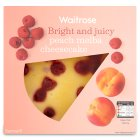 Waitrose peach melba cheesecake