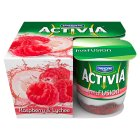 Danone Activia fruit fusion raspberry & lychee yogurts - 4x125g Brand Price Match - Checked Tesco.com 19/11/2014