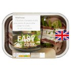 Waitrose Easy To Cook pea, pesto & pancetta chicken breasts - 365g