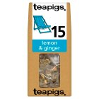 Teapigs lemon & ginger tea 15 bags - 37.5g