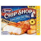 Young's Chip Shop 2 extra large cod fillets - 320g Brand Price Match - Checked Tesco.com 17/12/2014