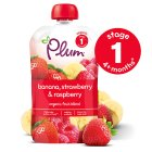 Plum organic banana & strawberry puree - stage 1 - 100g