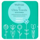 Waitrose Ultra Towels with Wings Normal - 14s