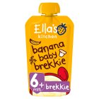 Ella's Kitchen Organic banana baby brekkie - stage 1 baby food - 100g