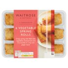 Waitrose 6 vegetable spring rolls - 216g