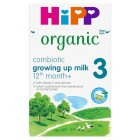 Hipp Organic growing up milk (4 - from 12 months onwards) - 600g Brand Price Match - Checked Tesco.com 05/03/2014