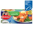 Birds Eye 12 haddock fish fingers frozen - 336g