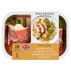 Waitrose Easy To Cook asparagus & prosciutto ham chicken breasts - 336g