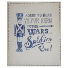 Soldier On Get Well Soon Card - each
