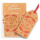 Waitrose Christmas Merry & Bright Tags - 8s