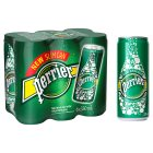 Perrier sparkling natural mineral water can - 6x330ml