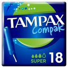 Tampax Compak Super Applicator Tampon Single 20PK - 20s Brand Price Match - Checked Tesco.com 20/08/2014