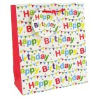 Happy Birthday bunting gift bag, medium