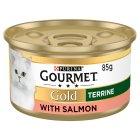 GOURMET Gold Adult Cat Terrine Salmon Wet Food Can - 85g