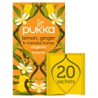 Pukka lemon, ginger & manuka honey herbal tea 20s - 40g
