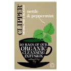 Clipper 20 organic nettle and peppermint infusion bags - 30g