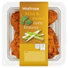 Waitrose spiced corn fritters - 150g