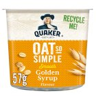 Quaker Oats So Simple golden syrup porridge cereal pot - 57g