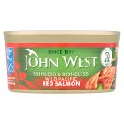 John West skinless & boneless wild red salmon