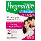 Vitabiotics pregnacare couples - 2x30s Brand Price Match - Checked Tesco.com 02/12/2013