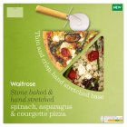 Waitrose spinach, asparagus & courgette pizza - 415g