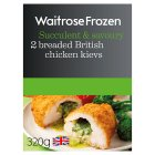 Waitrose 2 Frozen British chicken kievs - 320g