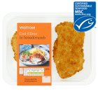 Waitrose MSC 2 line caught cod fillets in breadcrumbs - 275g