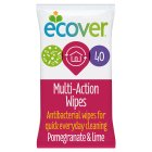 Ecover wipes pomegranate & lime - 40s Brand Price Match - Checked Tesco.com 17/12/2014