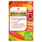Twinings Gingers Selection 20 Tea Bags - 33.75g