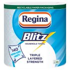 Regina blitz 3 ply towels - 2x140 sheets