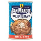 San Marcos refried beans with chilpotle
