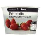 Waitrose fat free probiotic strawberry yogurt