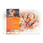 Waitrose British half chicken with chilli butter - 744g