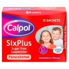 Calpol six plus sugar free sachets - 12x5ml