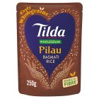 Tilda wholegrain pilau steamed basmati rice - 250g