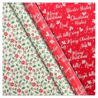 Waitrose Christmas Holly Gift Wrap -