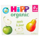 Hipp organic just fruit, apple & pear - stage 1 - 4x100g Brand Price Match - Checked Tesco.com 10/03/2014
