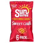 Sunbites wholegrain snacks sweet chilli multipack crisps - 6x25g