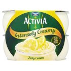 Activia Intensely Creamy - zesty lemon - 4x110g Brand Price Match - Checked Tesco.com 05/03/2014