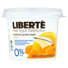 Liberté Greek style 0% fat yogurt honey - 500g Brand Price Match - Checked Tesco.com 15/09/2014
